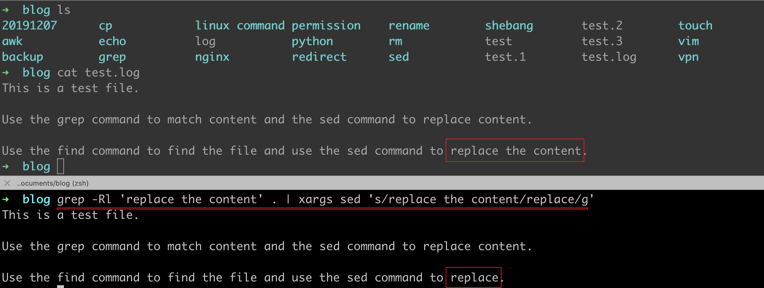 How to find and replace specified string with sed in linux/unix